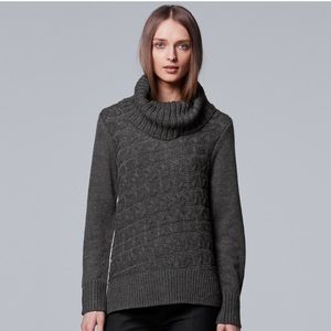 w/TAG Simply Vera Wang Cable Knit TURTLENeck Large